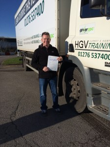 Terry Stronge with Category C Licence